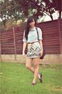 Light-blue-denim-j-crew-shirt-ivory-sequined-express-skirt