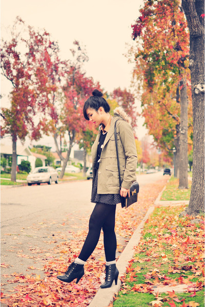 black Forever 21 sweater - olive green Matix jacket