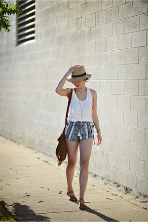 sky blue Boohoo shorts
