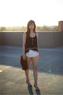White-bandit-one-teaspoon-shorts-black-tiered-tank-aeropostale-top