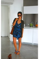 asos romper - Stradivarius shirt - Zara bag - Zara sandals - Repsol glasses