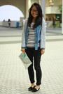 Stripe-shirt-h-m-shirt-denim-shirt-5cm-shirt-h-m-bag
