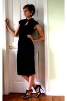 Zara dress - Shiekh shoes - forever 21 earrings