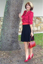brick red The Limited blouse - brick red vintage bag