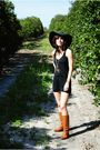 Black-xxi-hat-black-tj-maxx-gold-necklace-brown-x-appeal-boots-gold-simp