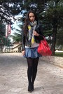 Black-bata-shoes-black-zara-jacket-white-zara-sweater-yellow-zara-scarf