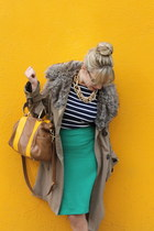 Topshop skirt - BB Dakota coat - Zara shirt