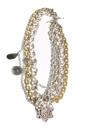 silver Tarnish dress - gold dress - Tarnish necklace