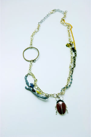 red Tarnish necklace