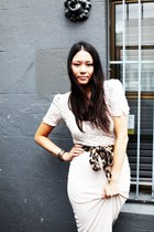 maxi skirt josh goot skirt - lace vintage top - Lovisa bracelet - asos necklace