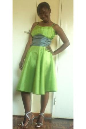 Tallis dress - silver Zahra dezine heels