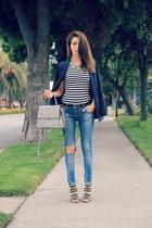 Zara jeans - H&M blazer - kate spade bag - Target sandals - H&M top