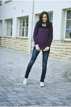 lindex sweater - Keds shoes - Front Row Shop shirt