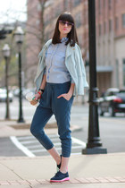 Zara shirt - Boutique 9 shoes - Mango jacket - Ray Ban sunglasses - Zara pants