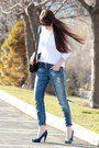 Blue-zara-jeans-black-juicy-couture-bag