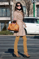 orange banana republic coat - burnt orange loewe bag