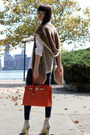 Carrot-orange-hermes-bag-camel-ray-ban-sunglasses-ivory-miss-sixty-heels