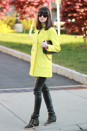 Juicy Couture coat - Chanel bag - Steven by Steve Madden sneakers