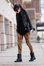 Black-zara-boots-black-juicy-couture-bag-tawny-zara-pants