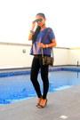 Black-bershka-jeans-white-zalora-watch-deep-purple-zalora-blouse