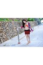 crimson kimono accessories