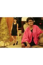 pink Forever 21 necklace - black Forever 21 shoes - black unbranded dress