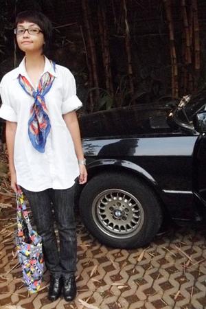 Ralph Lauren shirt - vintage scarf - Zara jeans - DIY shoes
