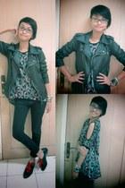 black Forever 21 shoes - black Zara jeans - black unbranded jacket