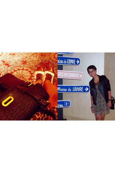 gold Forever21 bracelet - brown Local Treat dress - black unbranded jacket