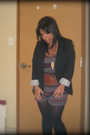 Vera-moda-blazer-ardene-stockings-ardene-belt-jumpsuit-urban-outfiters-dre