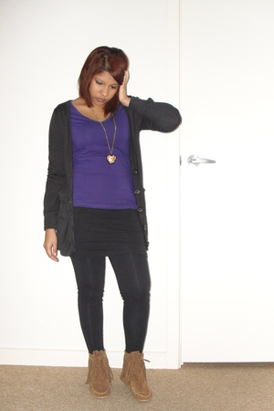 supre top - Temt jacket - cotton on tights - Rubi shoes boots - supre skirt