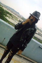 Forever21 hat - none jacket - Byford shirt - none leggings