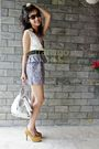 White-thailand-dress-silver-furla-purse-beige-hong-kong-shorts-purple-cana