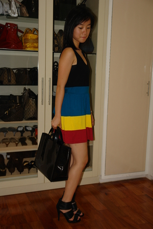 The First dress - Furla purse - Zara shoes