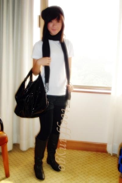 Greenhills shorts - hong kong vintage hat - Sisters scarf - Furla purse - 80s pl