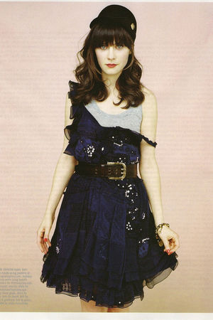 blue Chloe dress - blue Diesel top - brown Dolce and Gabbana belt - black Gucci