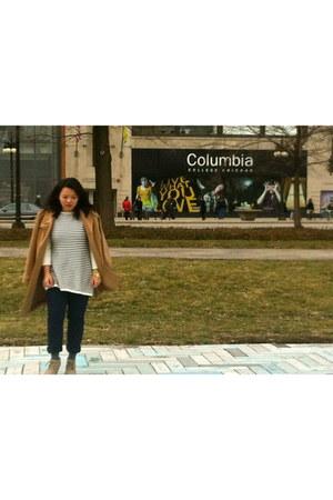 H&M coat - Target boots - H&M sweater - H&M bracelet - Target pants