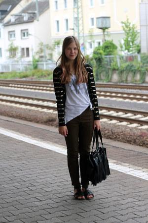 Topshop jacket - Topshop t-shirt - Zara pants