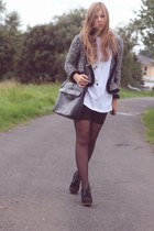 Jeffrey Campbell shoes - second hand jacket - my moms bag