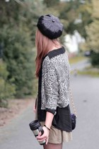 Primark blouse - via Karstadt hat - Zara jacket - Zara skirt