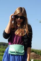 gifted bag - H&M jacket - my moms shirt - Zara skirt