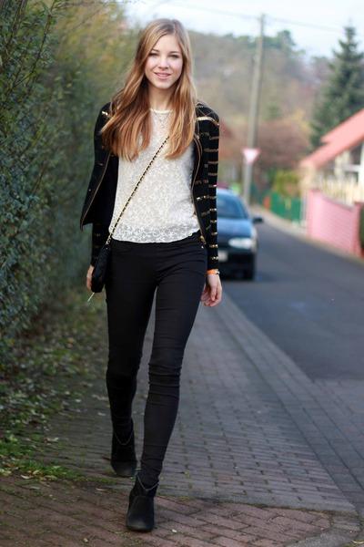 Topshop jacket - Primark boots - FleaMarket bag - FleaMarket top