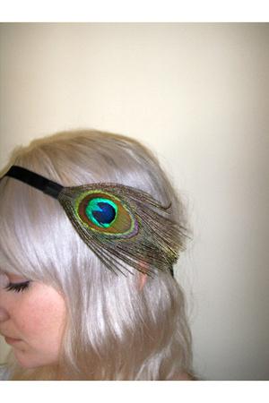 peacock plume headband