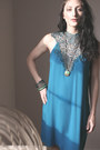 Turquoise-blue-crochet-teal-dress