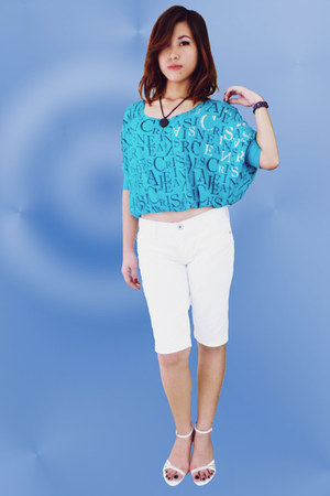 aquamarine crissa top