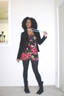 Red-forever-21-dress-black-h-m-blazer-black-new-york-company-tights-blac