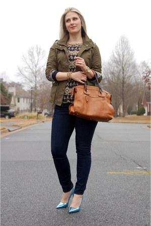 Teodora B jacket - ann taylor jeans - Teodora B top - sarah jessica parker pumps
