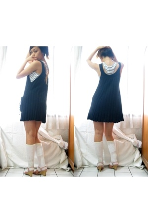 unknown dress - X2 top - Marks and Spencers socks - Charles & Keith shoes - neck