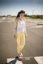 Zara wedges - Zara pants - Massimo Dutti blouse