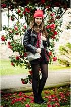 Pertini boots - Mango jacket - Bimba & Lola bag - Zara shorts - Sfera romper